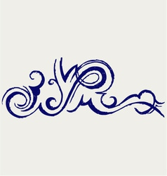 Calligraphic design element and page decoration vector image
