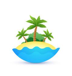 Cartoon landscape of tropic island vector