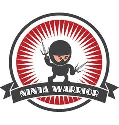 Cartoon ninja design elements vector