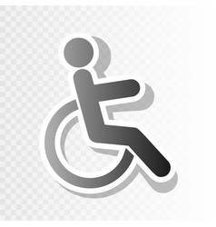 Disabled sign new year vector