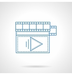 Flat blue line storyboard icon vector