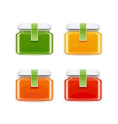 Glass juice bottles vector