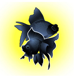 graphic telescope fish vector image