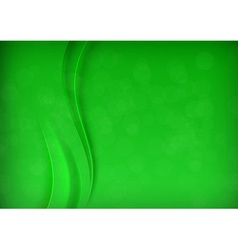 Green transparent banner with smooth wave vector image vector image
