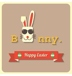 Happy easter bunny vector