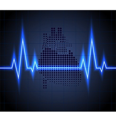 heart beats on Healthcare and icon heart vector image
