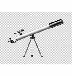 Modern telescope on transparent background vector