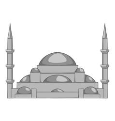 Mosque icon gray monochrome style vector image