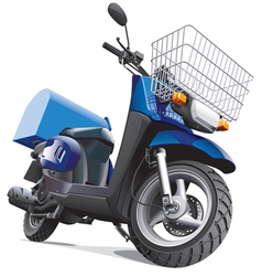 Motorbike for delivery goods vector