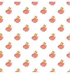 piggy bank pattern vector image