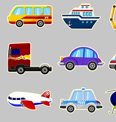 Set of vehicles vector