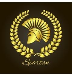 Spartan helmet in profile logo vector