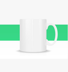 Template ceramic white mug with vector