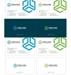 Trio business card 1 vector