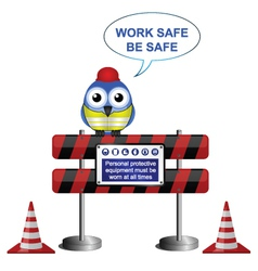 WORKERS BARRIER SIGN vector image vector image