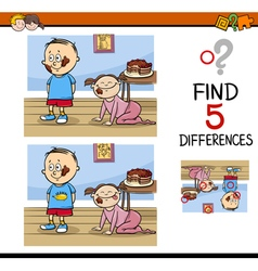 differences task for kids vector image