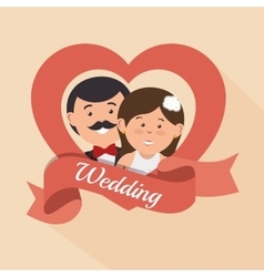Wedding invitation card icon vector