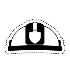 helmet firefighter isolated icon vector image