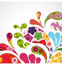 Splash of floral vector image