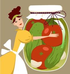 Pickled vegetables vector image