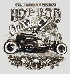 american custom rod classic vector image