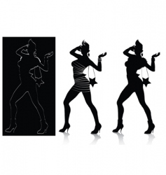 fashion silhouette set vector image