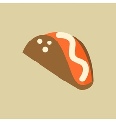 Taco food flat icon vector