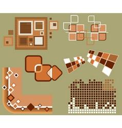 urban design elements vector image