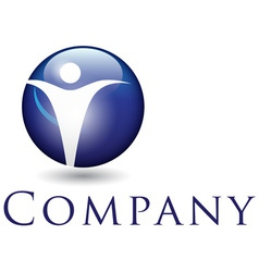 beautiful corporate emblem design template for you vector image