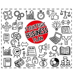 Strategic business icons vector