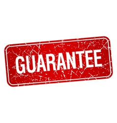 Guarantee red square grunge textured isolated vector