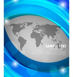 Abstract blue background with map vector image vector image