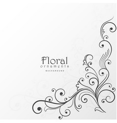 Beautiful floral design background decoration vector
