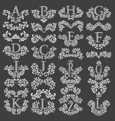 big set of ornamental elements for design vector image vector image