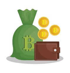 bitcoins trading flat icons vector image