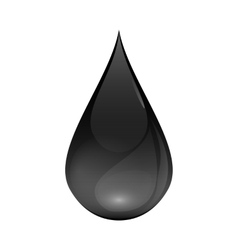Brent Oil Drop black icon isolated on white vector image vector image