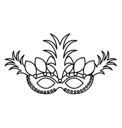 Carnival mask isolated icon vector