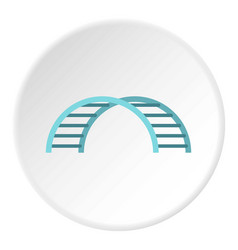 Climbing stairs on a playground icon circle vector