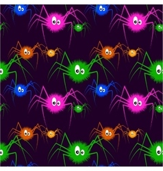 Color Spiders On The Dark Background vector image vector image
