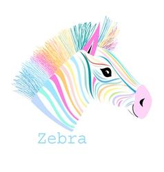 colorful portrait zebra vector image