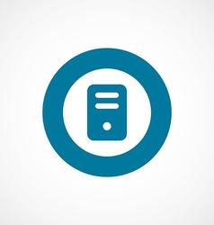 computer bold blue border circle icon vector image vector image