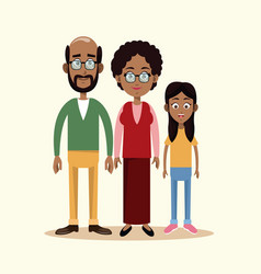 Couple grandparents with grandchild family vector