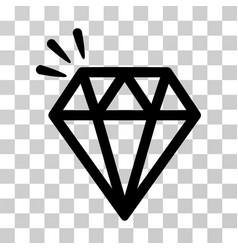 diamond crystal icon vector image