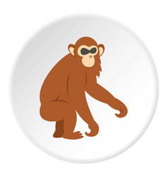 Dusky leaf monkey icon circle vector
