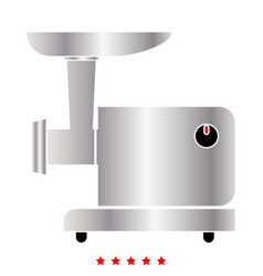 electric meat mincer icon flat style vector image