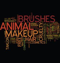 Environmental consciousness extends to makeup vector