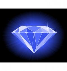 Faceted blue diamond vector