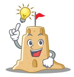 Have an idea sandcastle character cartoon style vector