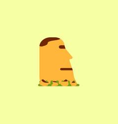 Island stone head moai vector