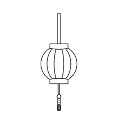 Japanese pendant light vector